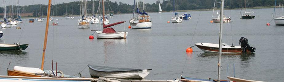 sailing boats near suffolk coast