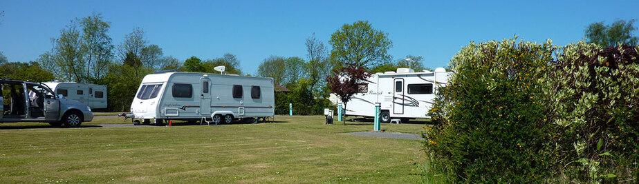 caravans at the holiday park